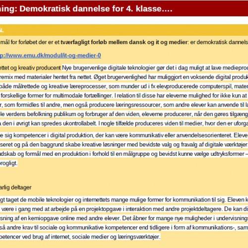 Blogskrivning – demokratisk dannelse for 4. klasse