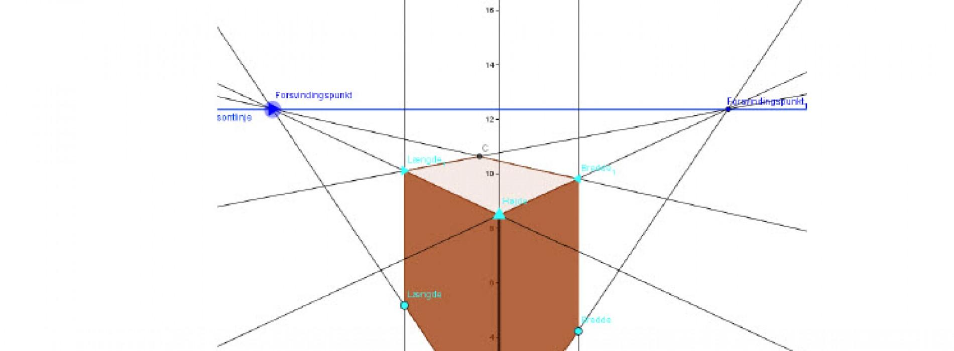 Dynamisk krydsperspektiv – målfast tegning i Geogebra